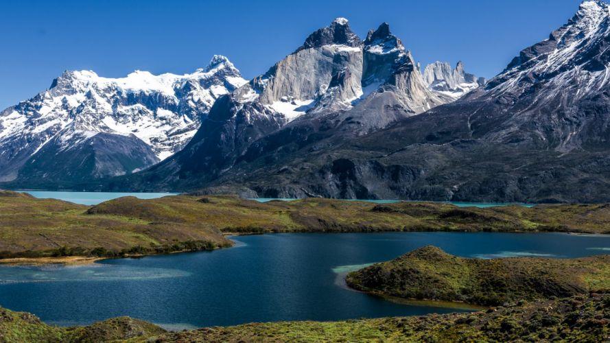 Chile Mountains Lake Nature wallpaper