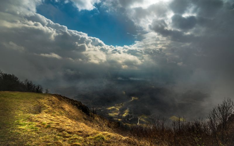 Scenery Sky Fog Clouds Nature wallpaper