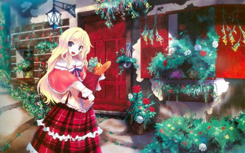 cartoons Japan anime girl blonde wallpaper