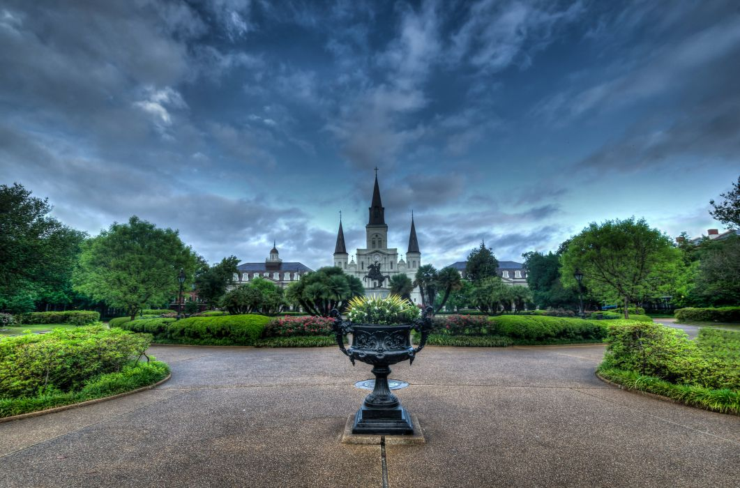 Sky USA HDR ACKSON SQUARE New Orleans Nature wallpaper