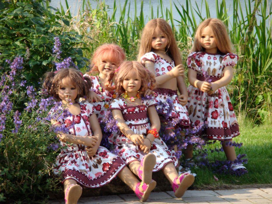 Germany Parks Doll Little girls Dress Shrubs Grugapark Essen Nature wallpaper