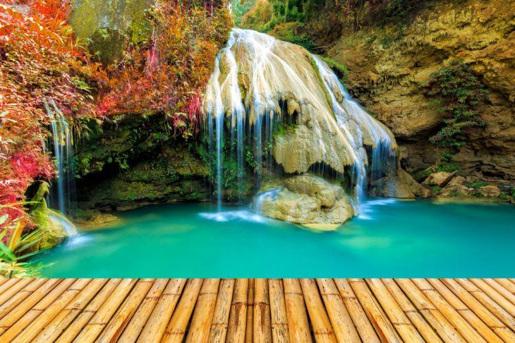 Thailand Parks Waterfalls Nature wallpaper