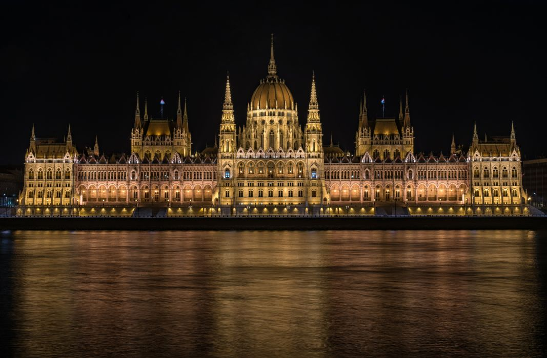udapest Hungary Houses Rivers Design Night Hungarian Parliament Cities wallpaper