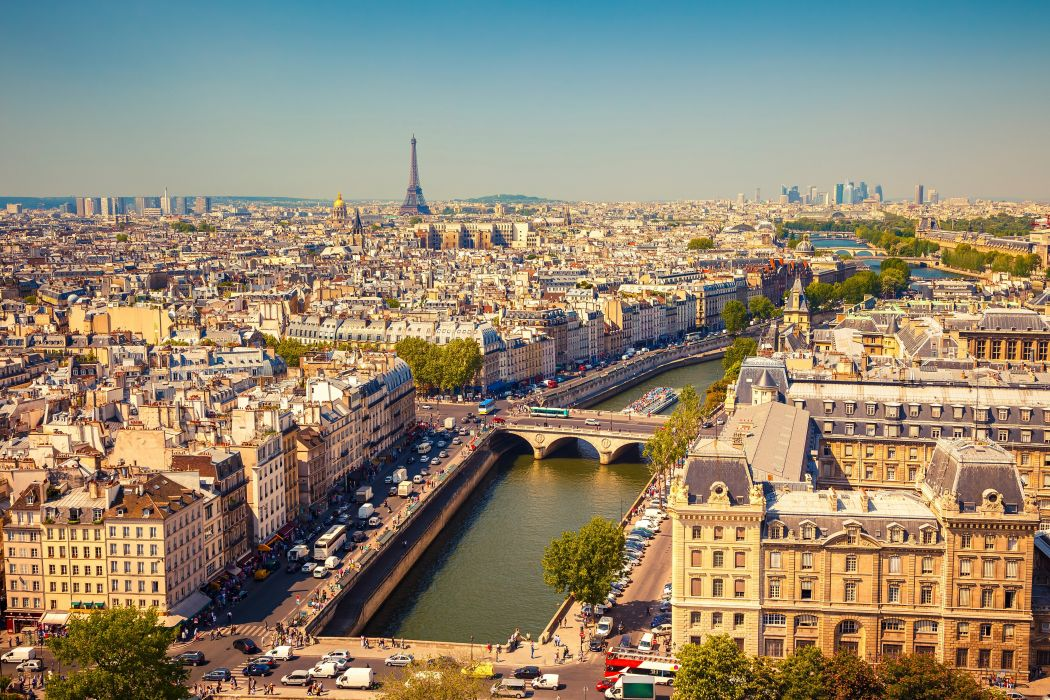 rance Roads Houses Paris Night Street From above Cities wallpaper