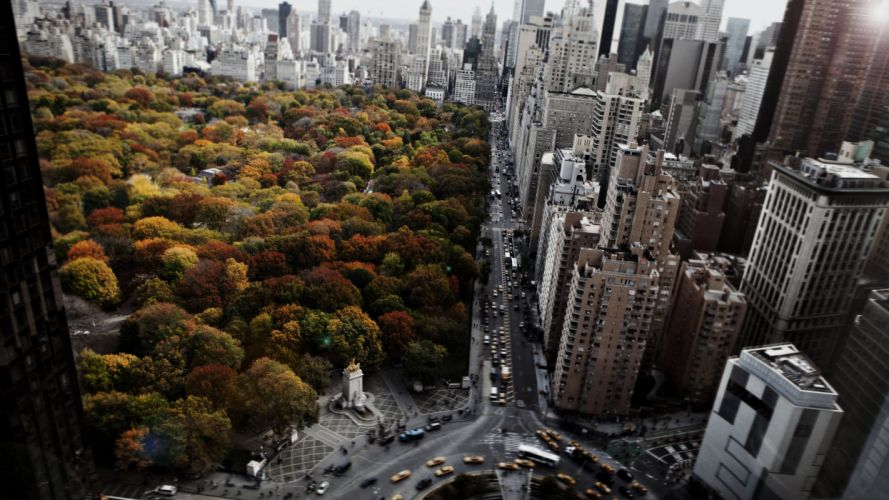 ouses Parks Roads USA From above New York City Cities wallpaper