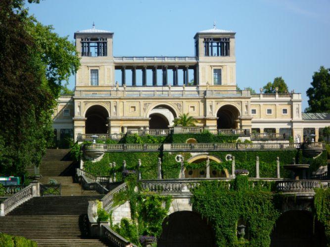ermany Palace Stairs Sanssouci palace Potsdam Cities wallpaper