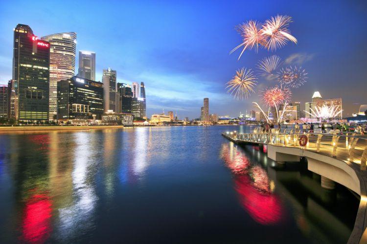 ingapore Fireworks Night Cities wallpaper