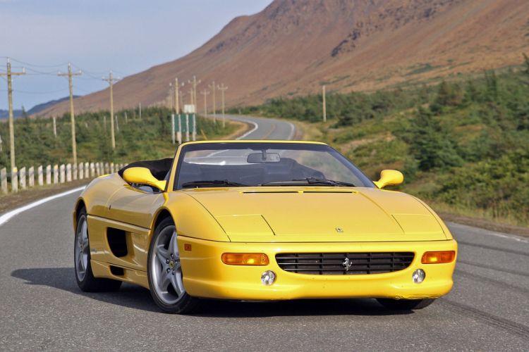 Ferrari F355 Spider cars yellow wallpaper