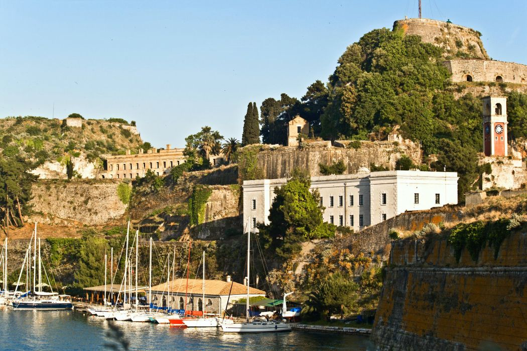reece Houses Fortress Corfu Old Fortress Cities wallpaper