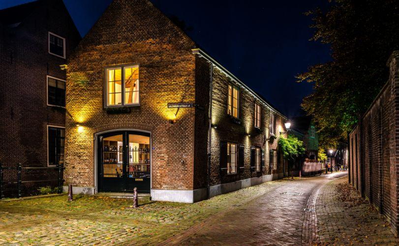 etherlands Houses Rivers Fence Alkmaar Cities wallpaper