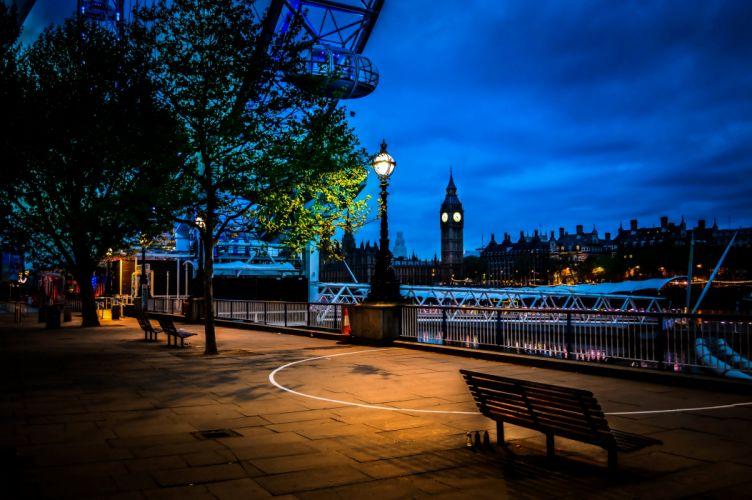 nited Kingdom Rivers Houses Marinas Motorboat London Ferris wheel Night Westminster Cities wallpaper