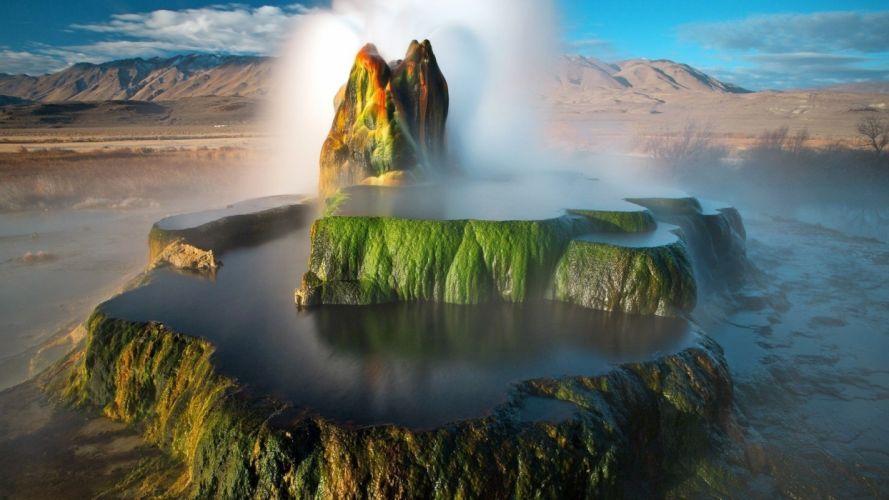 water mountains wallpaper