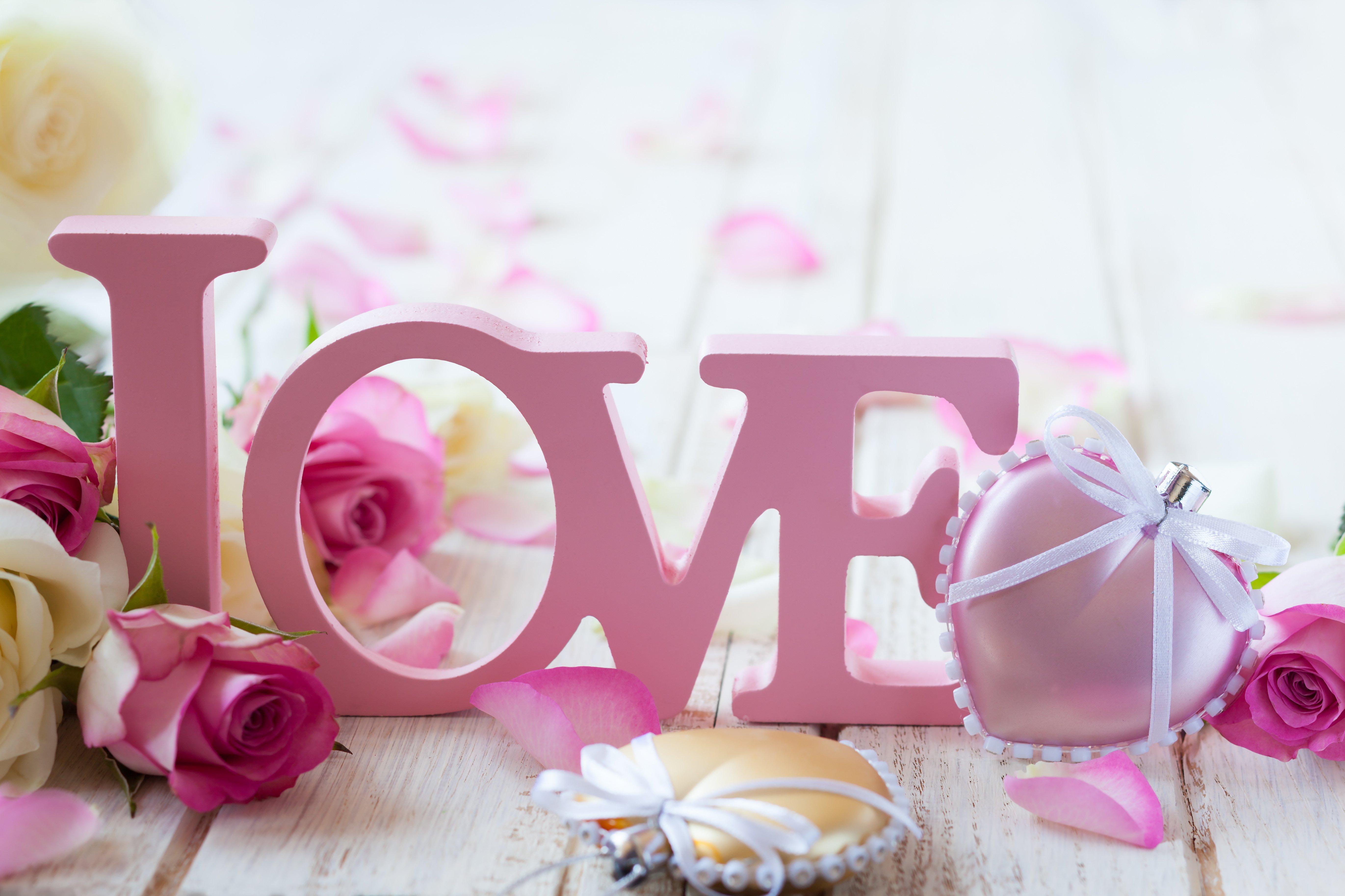 beautiful Love Art Flowers Wallpaper Hd For