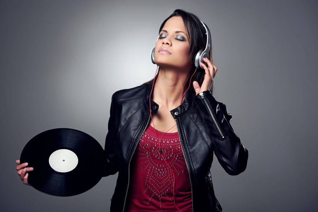 eadphones DJ deejay Gramophone record Music Girls wallpaper