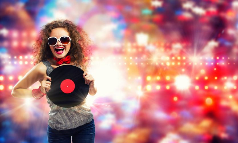 eadphones DJ deejay Gramophone record Music Girls wallpaper