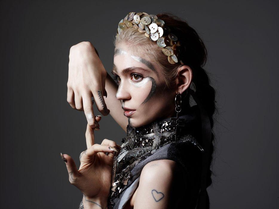 asks Makeup Hair Hands Grimes Claire Boucher Hunger 2015 Rankin Music Celebrities Girls wallpaper