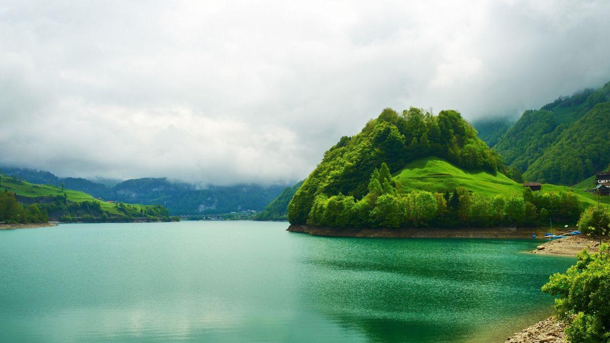 isla lago paisaje naturaleza wallpaper