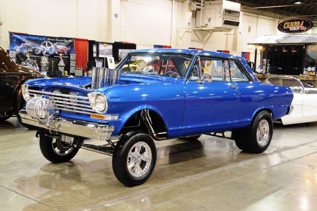 Chevy Nova-SS cars classic blue modified  wallpaper