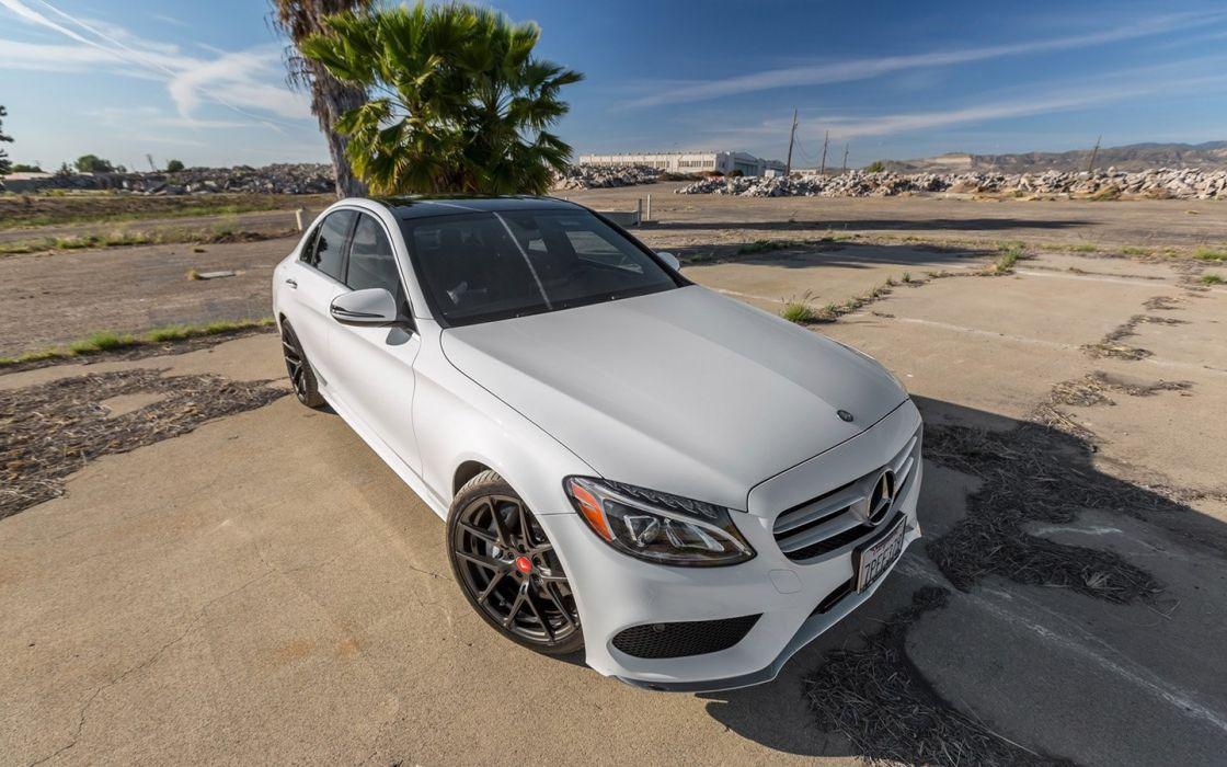Vorsteiner Mercedes Benz C300 cars white modified wallpaper