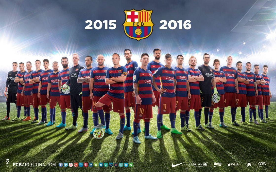 plantilla fc barcelona 2015-16 wallpaper