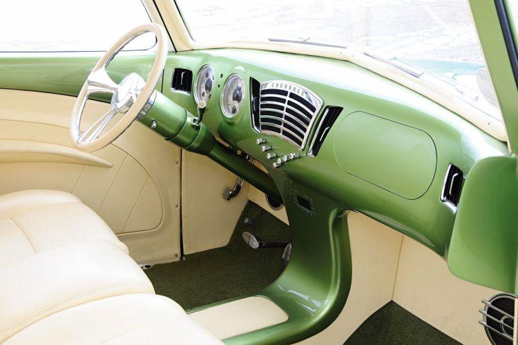 1948 chevy Pickup trucks green modified interior wallpaper