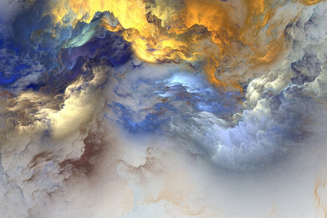 abstract art clouds colorful digital art wallpaper