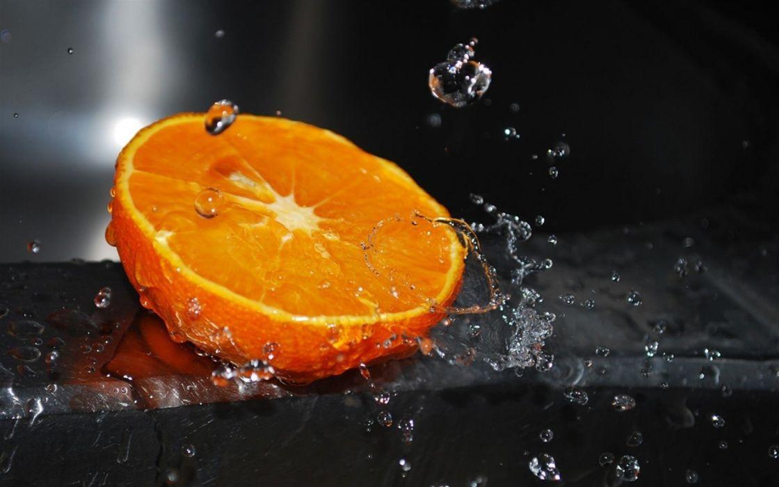 macro art beauty black citrus drops fresh orange photographer splash splashing wallpaper water wallpaper
