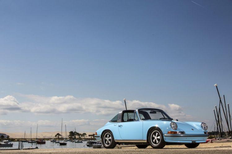Porsche 911 S Targa (911) cars blue 1971 wallpaper