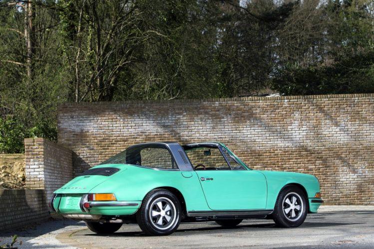 Porsche 911 S Targa (911) cars blue 1971 green wallpaper