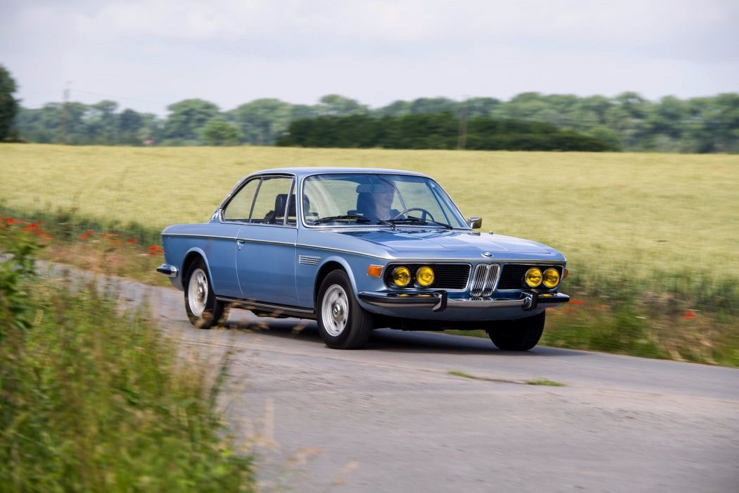 BMW 3 0 CSi (E9) cars coupe blue 1971 wallpaper