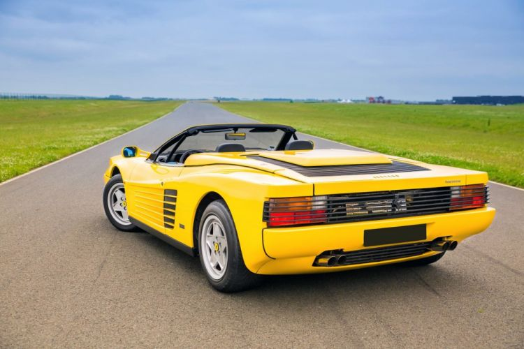 Ferrari Testarossa Spider cars yellow 1988 wallpaper