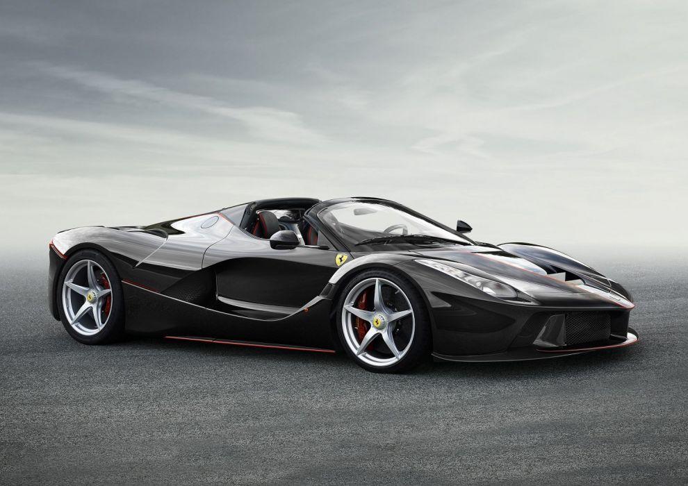 Ferrari LaFerrari Aperta spider cars supercars black 2016 wallpaper
