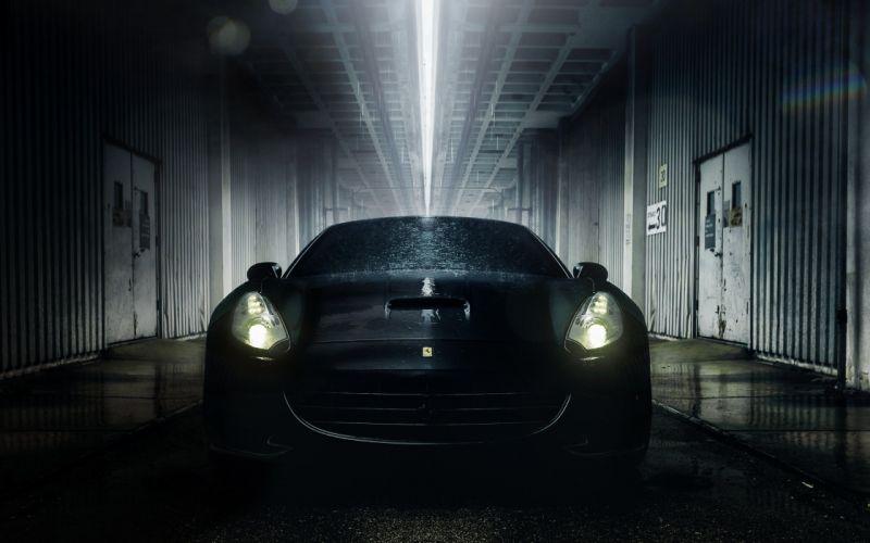 auto wallpaper ferrari california hd headlights supercar tunnel water wallpaper