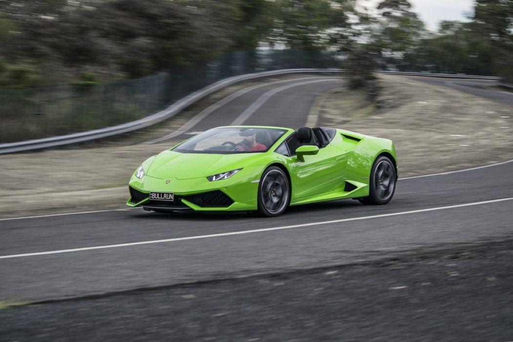 Lamborghini Huracan LP 610-4 Spyder AU-spec cars green 2016  wallpaper