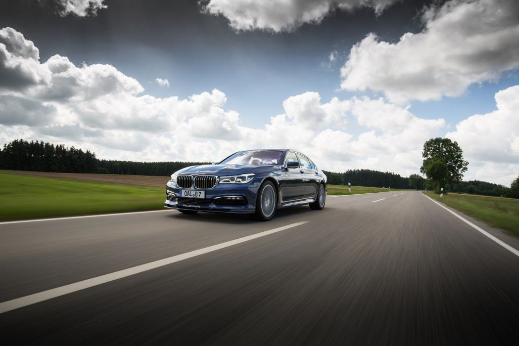 Alpina B7 Bi-Turbo Allrad (G12) cars blue 2016 wallpaper