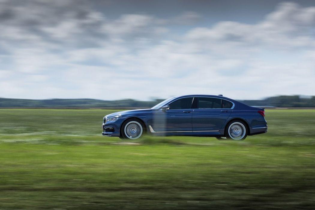 Alpina B7 Bi-Turbo Allrad (G12) cars blue 2016 wallpaper