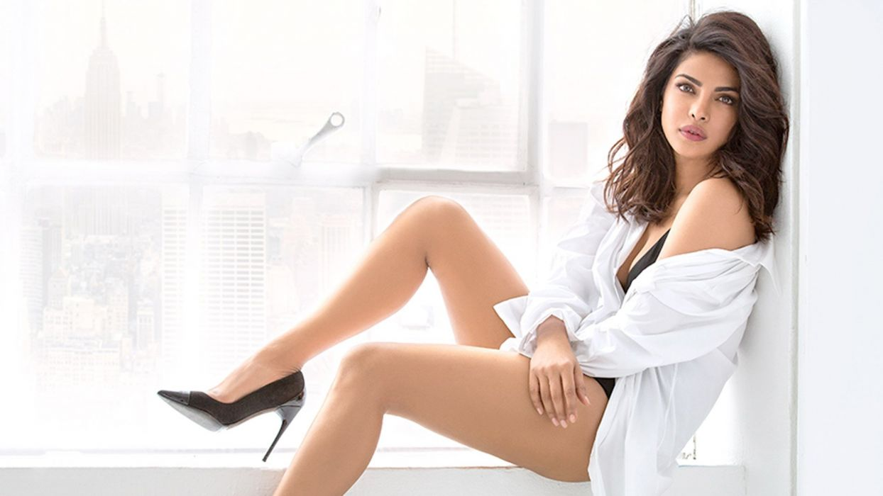 priyanka chopra bollywood actress model girl beautiful brunette pretty cute beauty sexy hot pose face eyes hair lips smile figure indian  wallpaper
