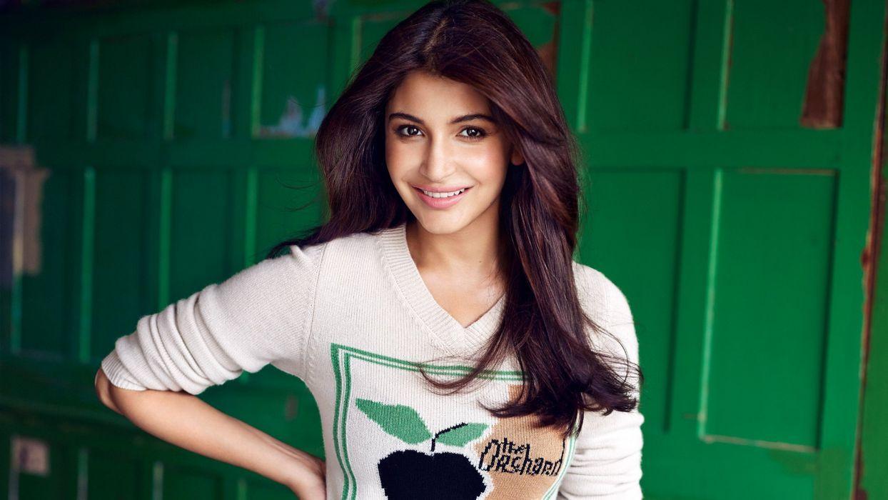 anushka sharma bollywood actress model girl beautiful brunette pretty cute beauty sexy hot pose face eyes hair lips smile figure indian  wallpaper