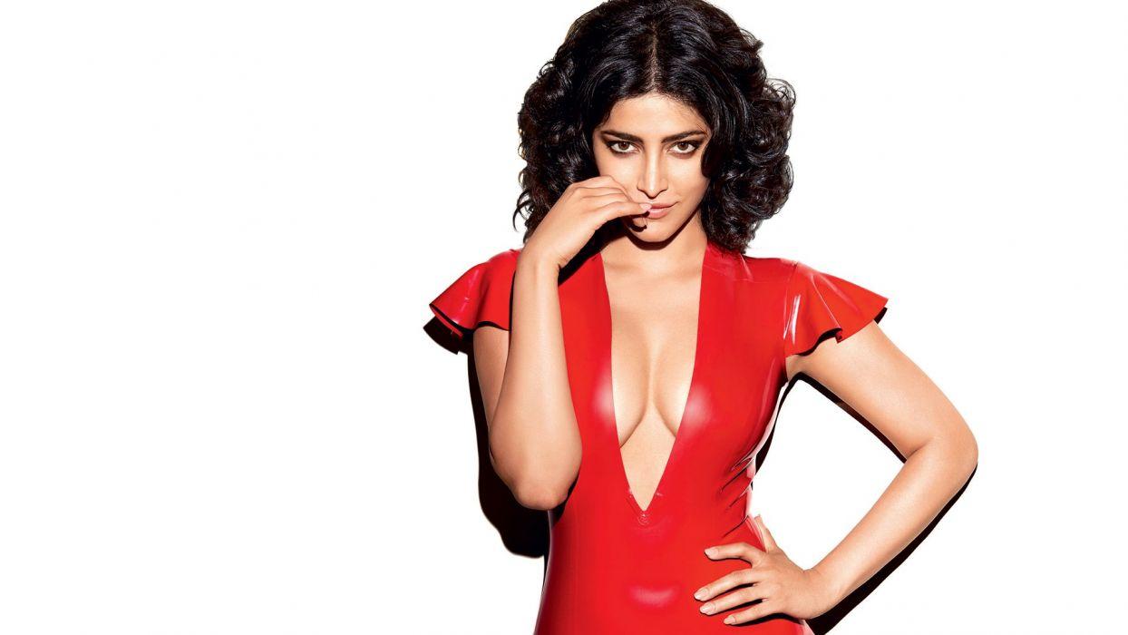 shruti haasan bollywood actress model girl beautiful brunette pretty cute beauty sexy hot pose face eyes hair lips smile figure indian  wallpaper