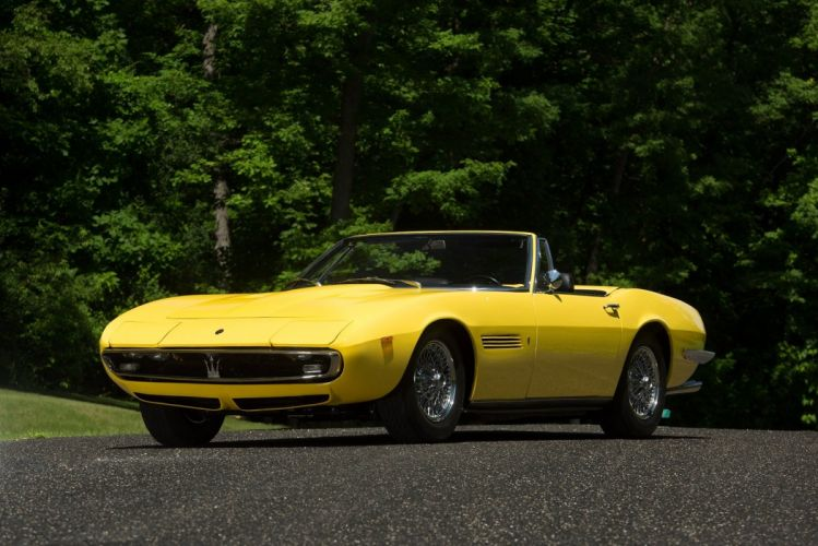 1969 Maserati Ghibli Spyder SS cars yellow wallpaper