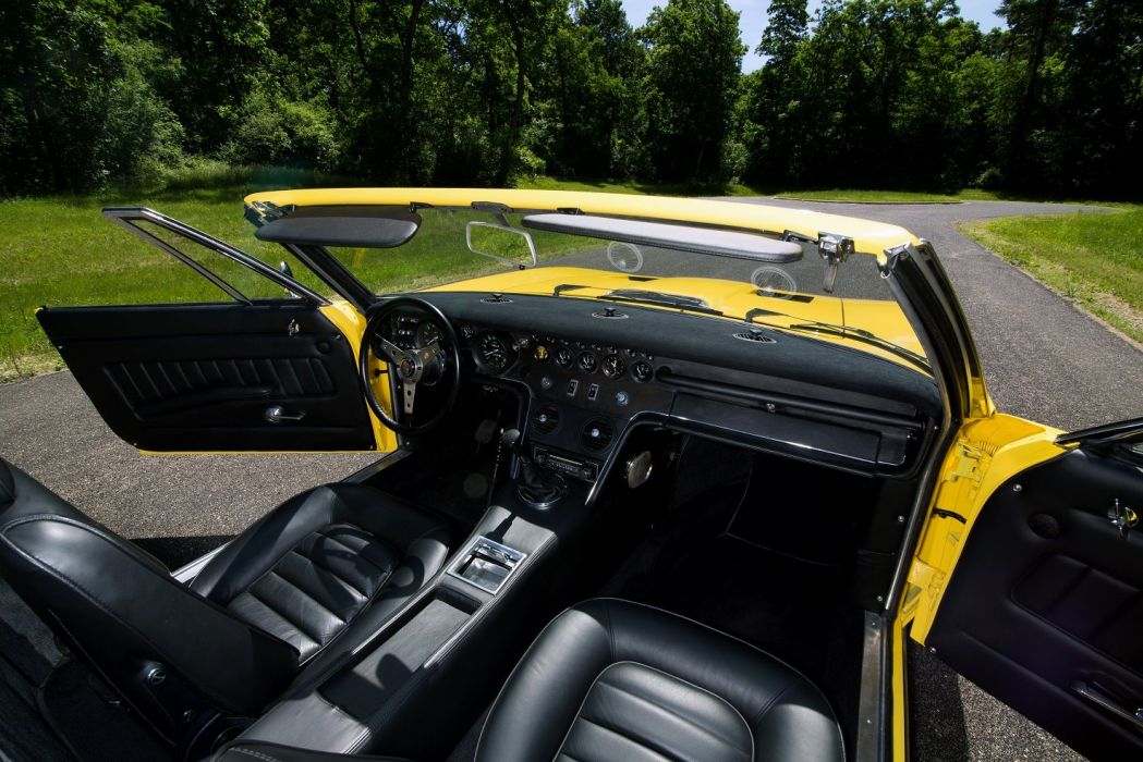 1969 Maserati Ghibli Spyder SS cars yellow interior wallpaper