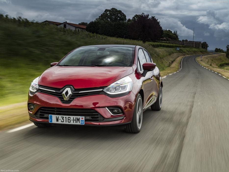 Renault Clio cars french 2016 red wallpaper