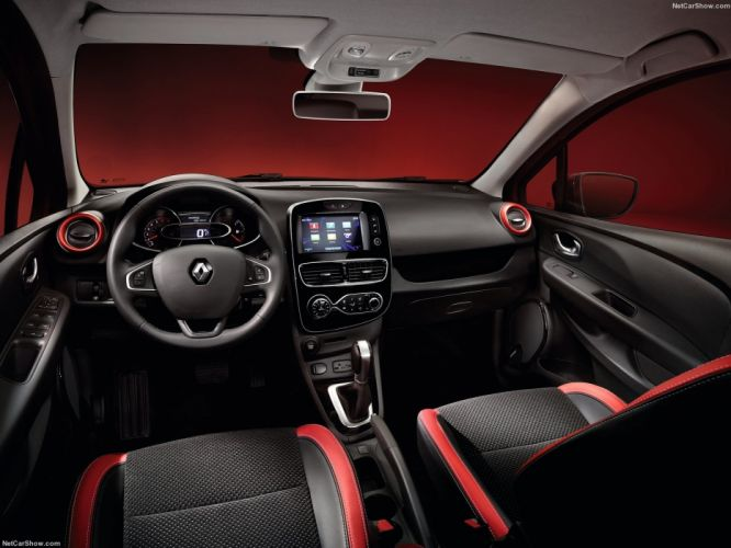 Renault Clio cars french 2016 red interior wallpaper