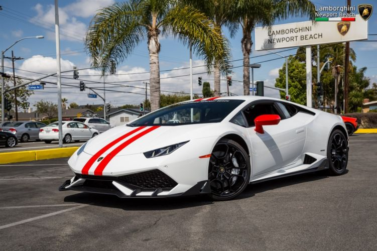 Lamborghini Aero Package Huracan cars white 2016 wallpaper