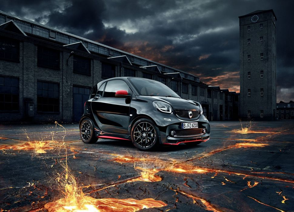 Smart Brabus cars black modified 2016 wallpaper