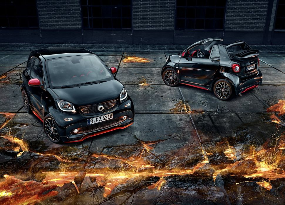 Smart Brabus cars black modified 2016 wallpaper