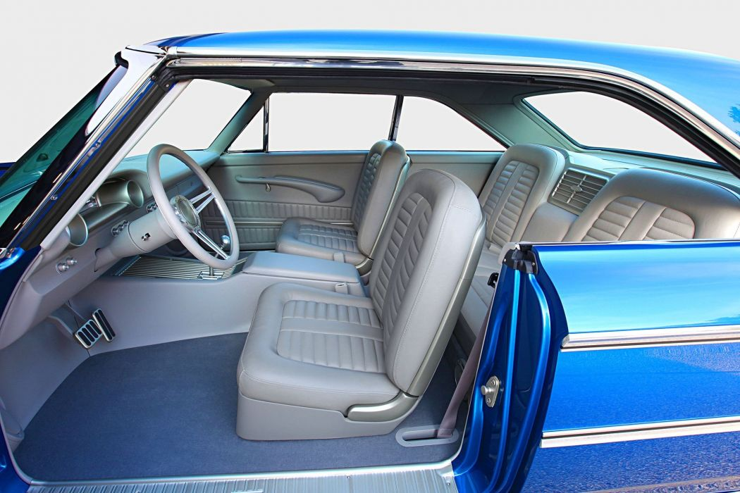 1963 Ford Galaxie sportsroof blue cars modified wallpaper