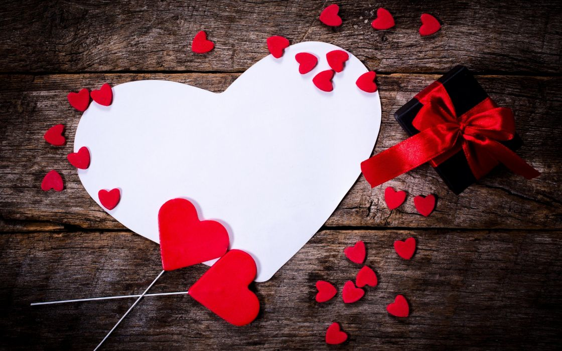 a lot of black box colorfull gift heart hearts holiday love red heart romance Valentine Valentine's Day white heart wooden background wallpaper