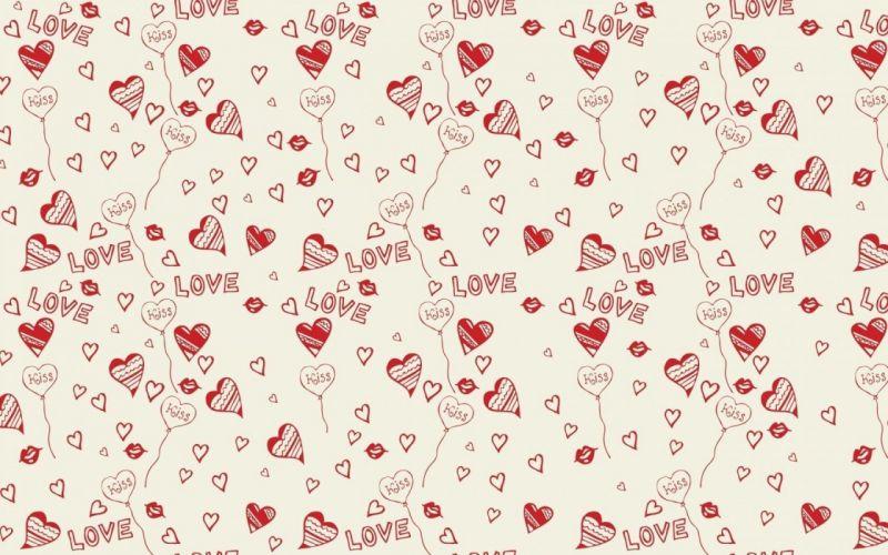 art background hearts kiss lips love pattern vector wallpaper