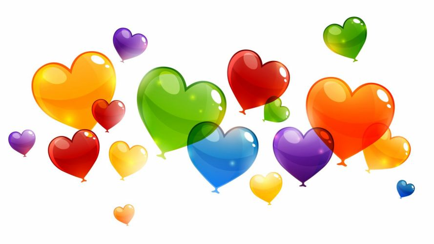 art balloons birthday blue colored colorful green hearts orange purple red texture vector wallpaper
